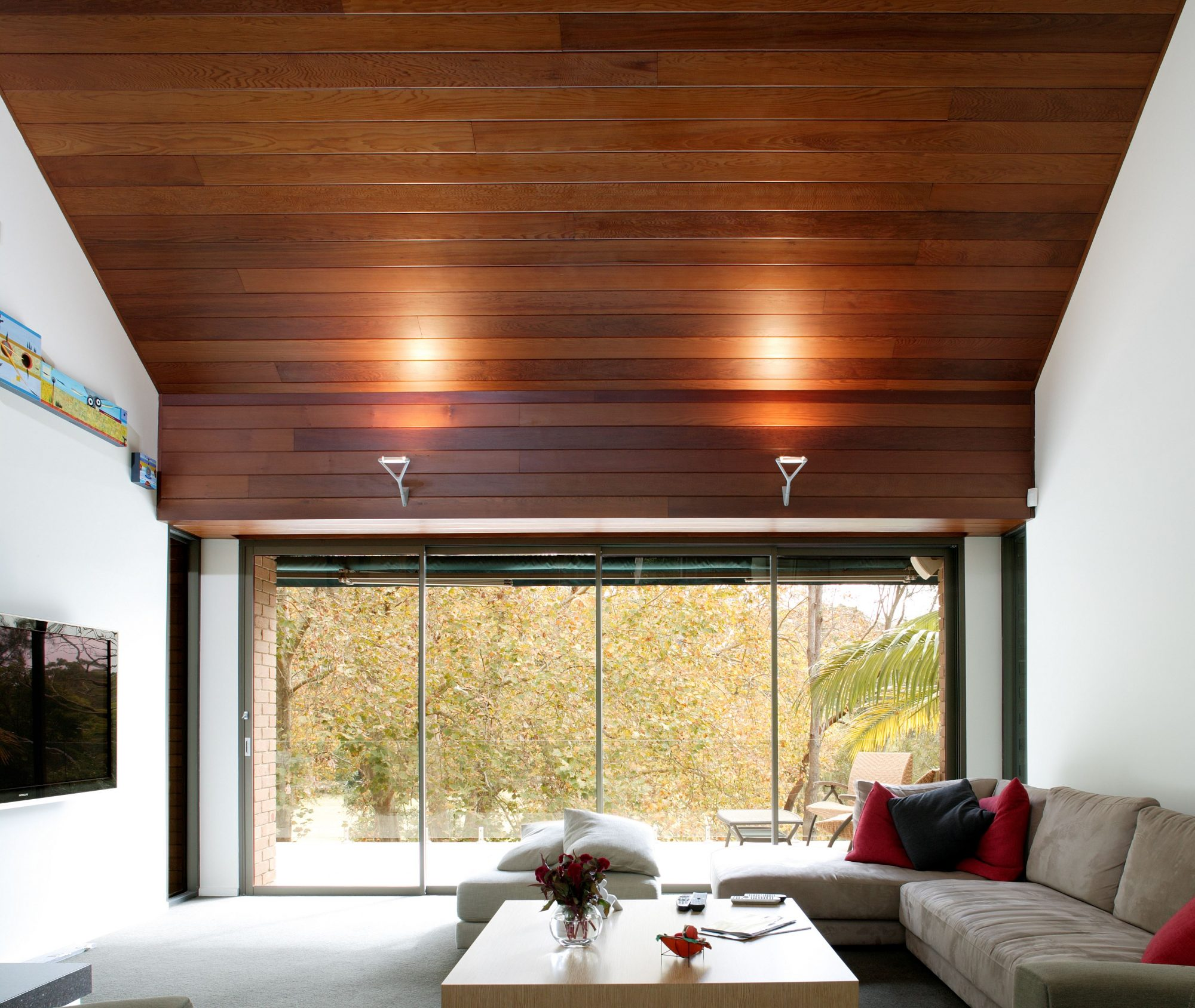 Polish and protect interior timber cladding with Sikkens wood stains