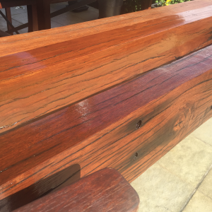 Refurbished railway sleepers using Sikkens Cetol HLSe wood stain