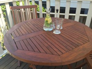 Outdoor furniture stained withSikkens BLX Pro