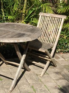 Outdoor Furniture not cleaned ready for Sikkens Cetol BL Garden Furniture Cleaner